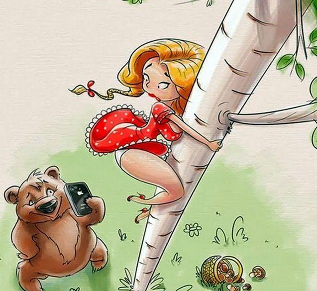 Карикатуры на известные всем мультфильмы