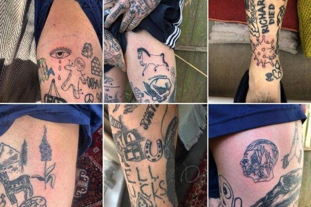 Парень из британии набивает тату за каждый день карантина
